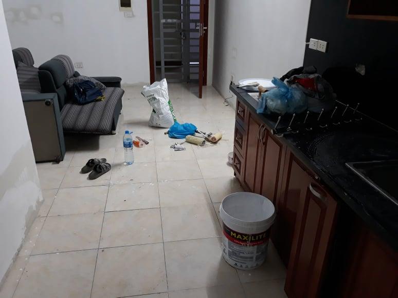 Nhân công sơn nhà thuê bao tiền 1 m2
