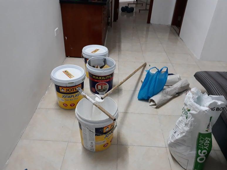 Tôi có nhu cầu sơn lại căn chung cư 80 m2?