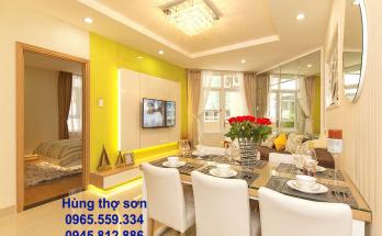 Sơn nhà chung cư màu vàng kem yêu thích nhất